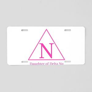 Daughter of Delta Nu Aluminum License Plate