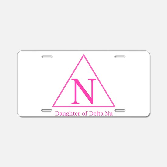 Daughter of Delta Nu Aluminum License Plate