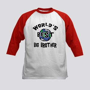 World's Best Big Brother Kids Baseball Jersey