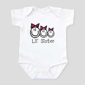 Lil' Sister of Three (Girls) Infant Bodysuit