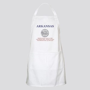 Arkansas with facts State Qua BBQ Apron