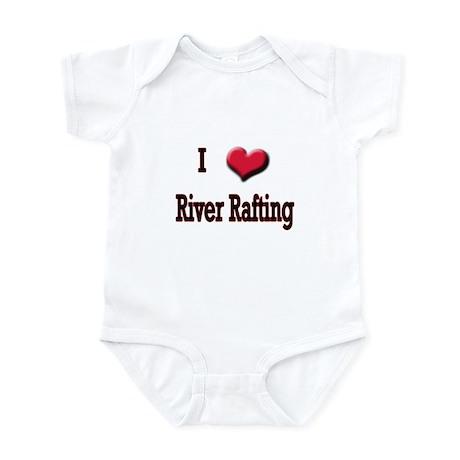 I Love (Heart) River Rafting Infant Bodysuit