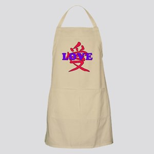 Chinese and English LOVE BBQ Apron