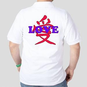 Chinese and English LOVE Golf Shirt