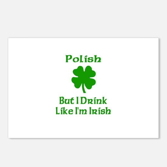 Polish, But I Drink Like I'm Postcards (Package of