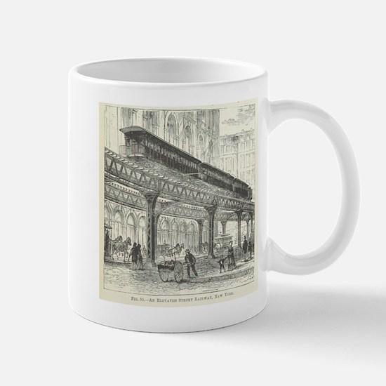Elevated Street Railway New York Mugs
