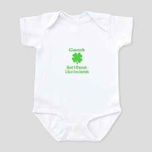 Greek, But I Drink Like I'm I Infant Bodysuit