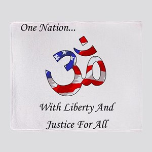 One Nation Hindu Throw Blanket