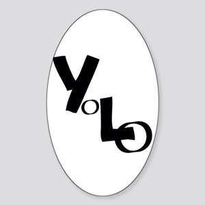 Yolo - You Only Live Once Sticker (oval)
