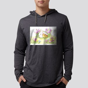 Easter Bunny, Duckling and Flowers Long Sleeve T-S
