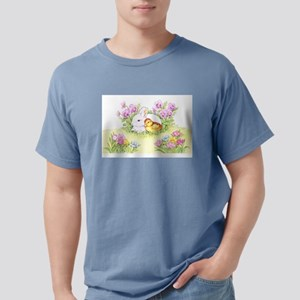 Easter Bunny, Duckling and Flowers T-Shirt