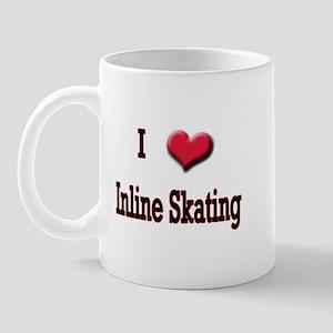 I Love (Heart) Inline Skating Mug