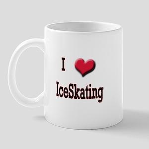 I Love (Heart) Ice Skating Mug