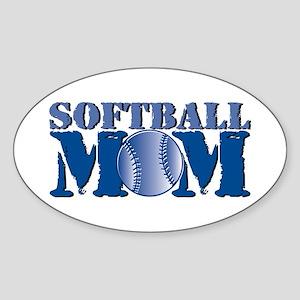Softball Mom Oval Sticker