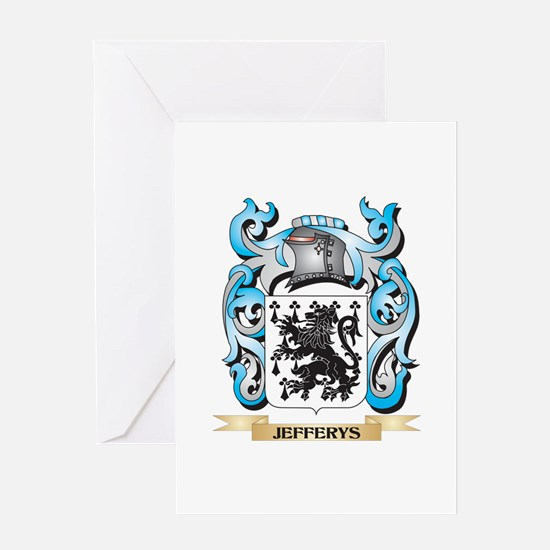 Jefferys Coat of Arms - Family Cres Greeting Cards