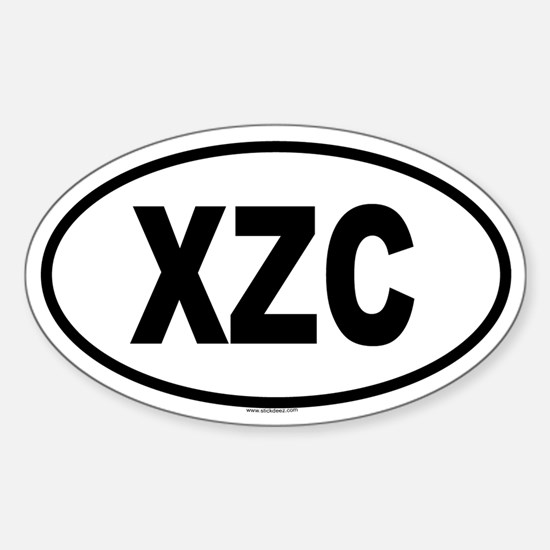 XZC Oval Decal