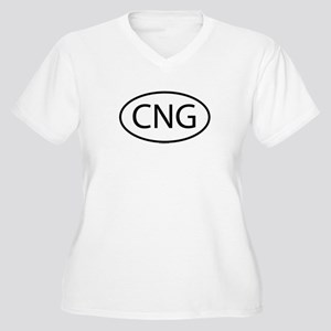 CNG Womes Plus-Size V-Neck T-Shirt
