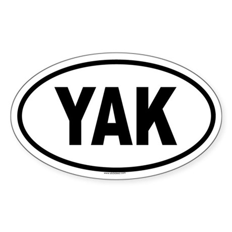 YAK Oval Sticker