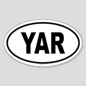 YAR Oval Sticker