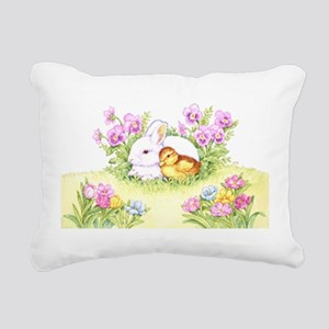 Easter Bunny, Duckling and Flowers Rectangular Can