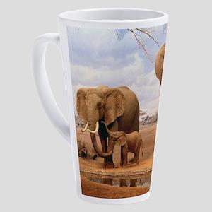 Family Of Elephants 17 oz Latte Mug