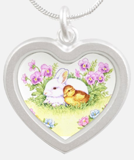 Easter Bunny, Duckling and Flowers Necklaces