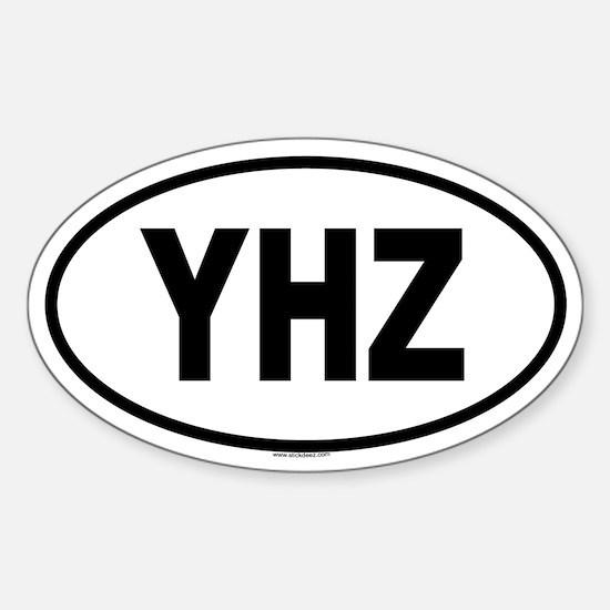 YHZ Oval Decal