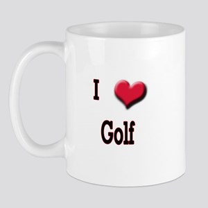 I Love (Heart) Golf Mug