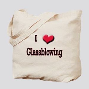 I Love (Heart) Glassblowing Tote Bag