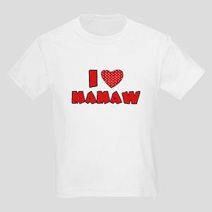 I heart Mamaw Kids Light T-Shirt