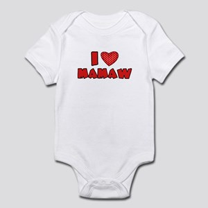 I heart Mamaw  Infant Bodysuit
