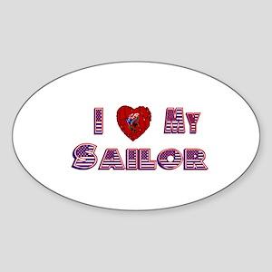 I love my Sailor stickers Oval Sticker
