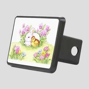 Easter Bunny, Duckling and Flowers Hitch Cover