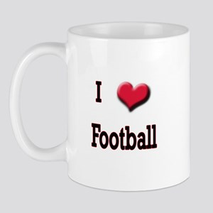 I Love (Heart) Football Mug
