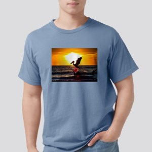Pelican On Ocean At Sunset T-Shirt