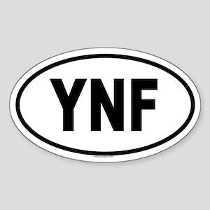 YNF Oval Sticker