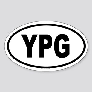 YPG Oval Sticker