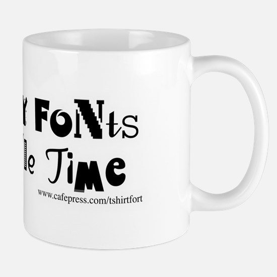 So Many Fonts! Mug