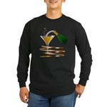 Champagne Party Celebration Long Sleeve Dark T-Shi
