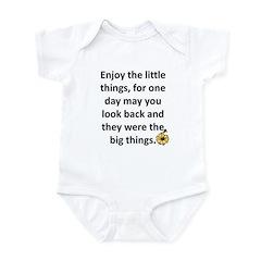 Enjoy the little things Infant Bodysuit