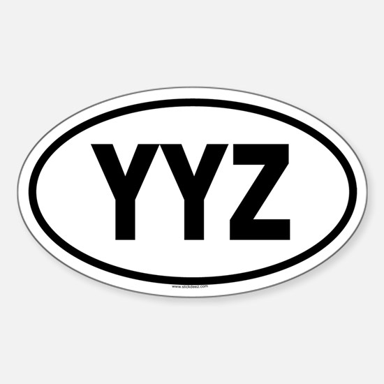 YYZ Oval Decal