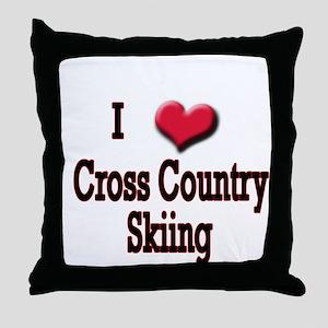 I Love (Heart) Cross Country  Throw Pillow