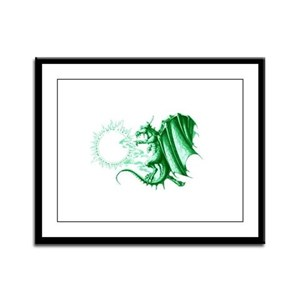 Earthquake Dragon Framed Panel Print