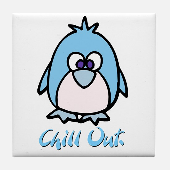 Chill Out Penguin Tile Coaster