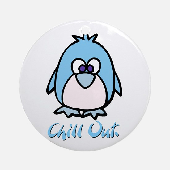 Chill Out Penguin Keepsake (Round)
