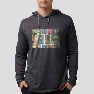 Old Canadian Stamps Long Sleeve T-Shirt