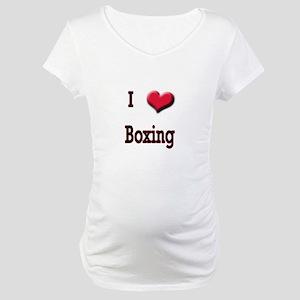 I Love (Heart) Boxing Maternity T-Shirt