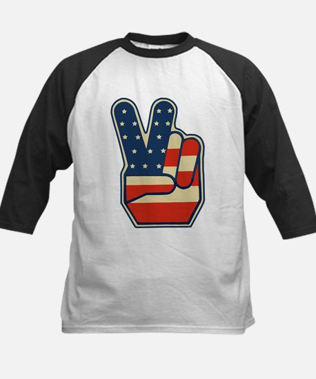 USA PEACE SIGN Kids Baseball Jersey