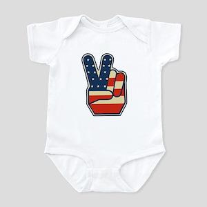 USA PEACE SIGN Infant Bodysuit