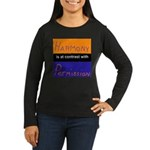 Harmony Permission Women's Long Sleeve Dark T-Shir